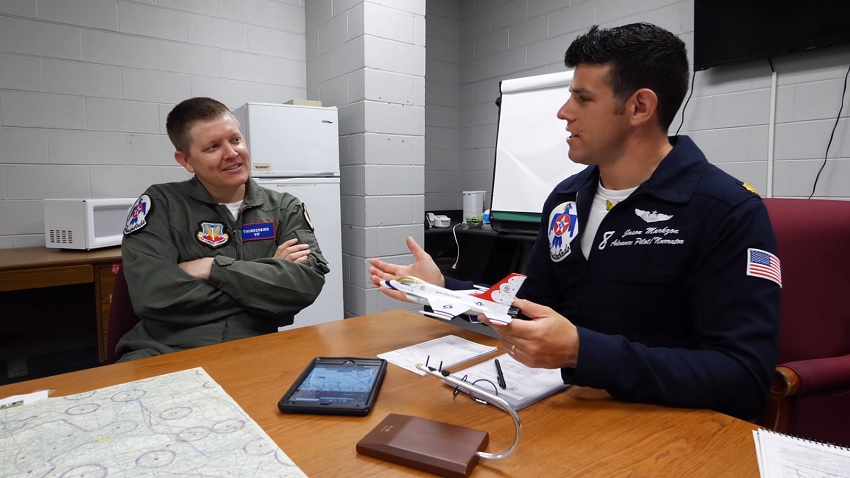 Riding Along with the Thunderbirds and Talking Science.